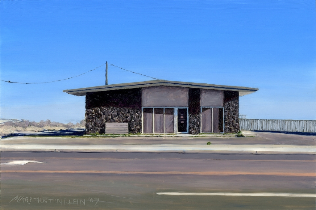 "Southwest Vet Clinic, Ft. Stockton, TX by Mary-Austin Klein Oil ~ 4"" x 6"""