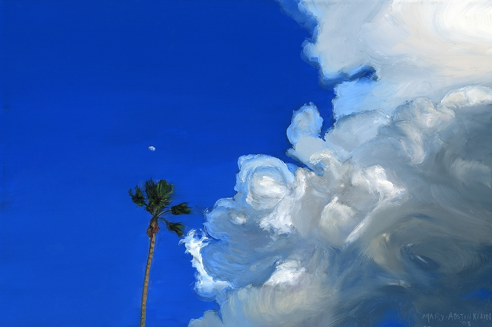 "LA Sky by Mary-Austin Klein Oil ~ 4"" x 6"""