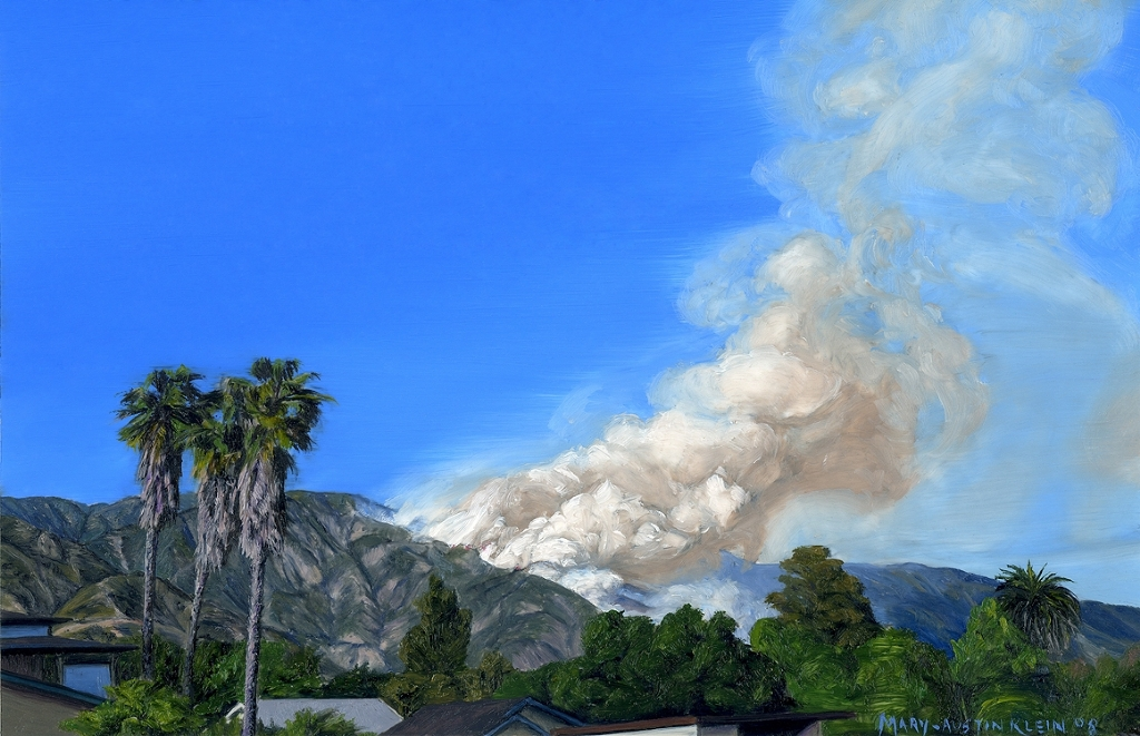 "Sierra Madre Fire by Mary-Austin Klein Oil ~ 4"" x 6"""