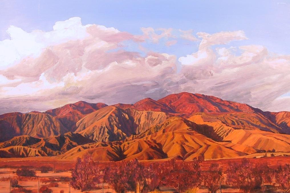 """San Gorgonio Pass by Mary-Austin Klein Oil ~ 6.5"""" x 10.5"""""""