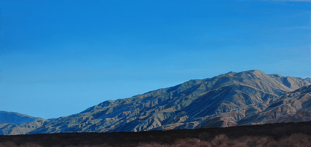 "Inyo Blue, Saline Valley by Mary-Austin Klein Oil ~ 9.75"" x 20.5"""