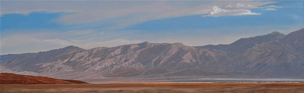 "Saline Valley Pano, Death Valley by Mary-Austin Klein Oil ~ 8"" x 25.25"""