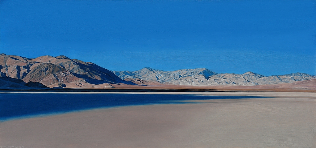 "Racetrack, Death Valley by Mary-Austin Klein Oil ~ 9.5"" x 20.25"""