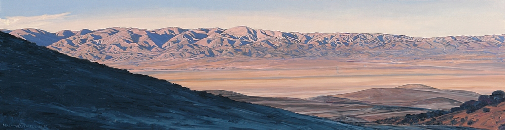 "Temblor Range, Carrizo Plain by Mary-Austin Klein Oil ~ 5.5"" x 20.25"""