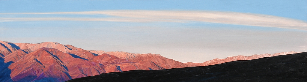"Inyo Sunrise, Saline Valley by Mary-Austin Klein Oil ~ 5.5"" x 10.5"""