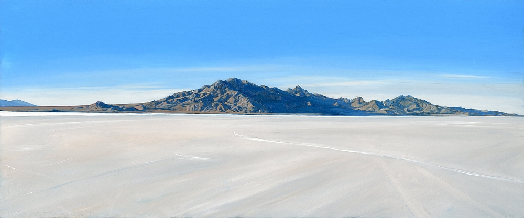 "Bonneville Salt Flats by Mary-Austin Klein Oil ~ 4.5"" x 11"""