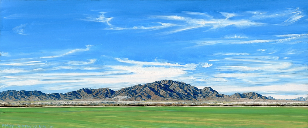 "Palo Verde Mountain by Mary-Austin Klein Oil ~ 4.5"" x 11"""