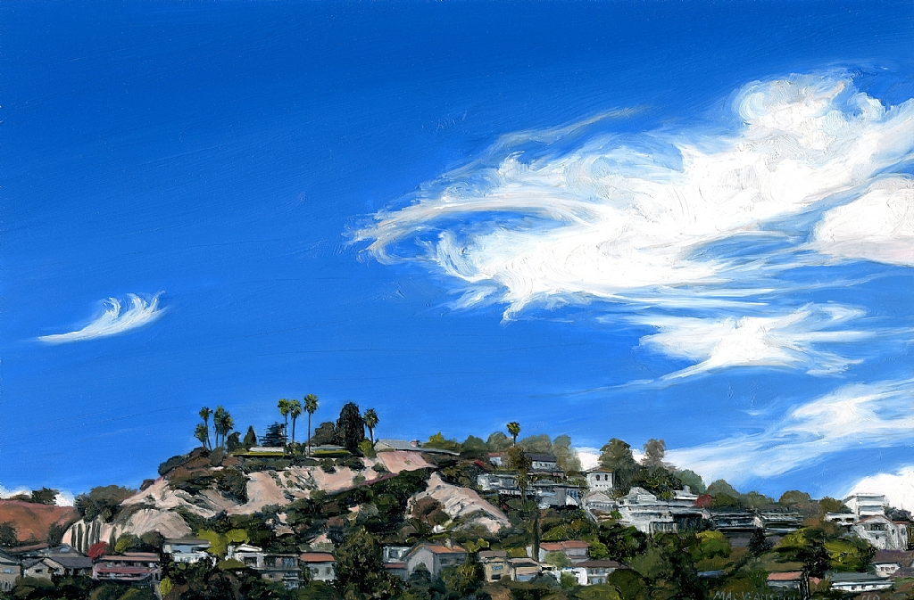 Los Feliz Hills by Mary-Austin Klein Oil ~ 4&quot; x 6&quot;