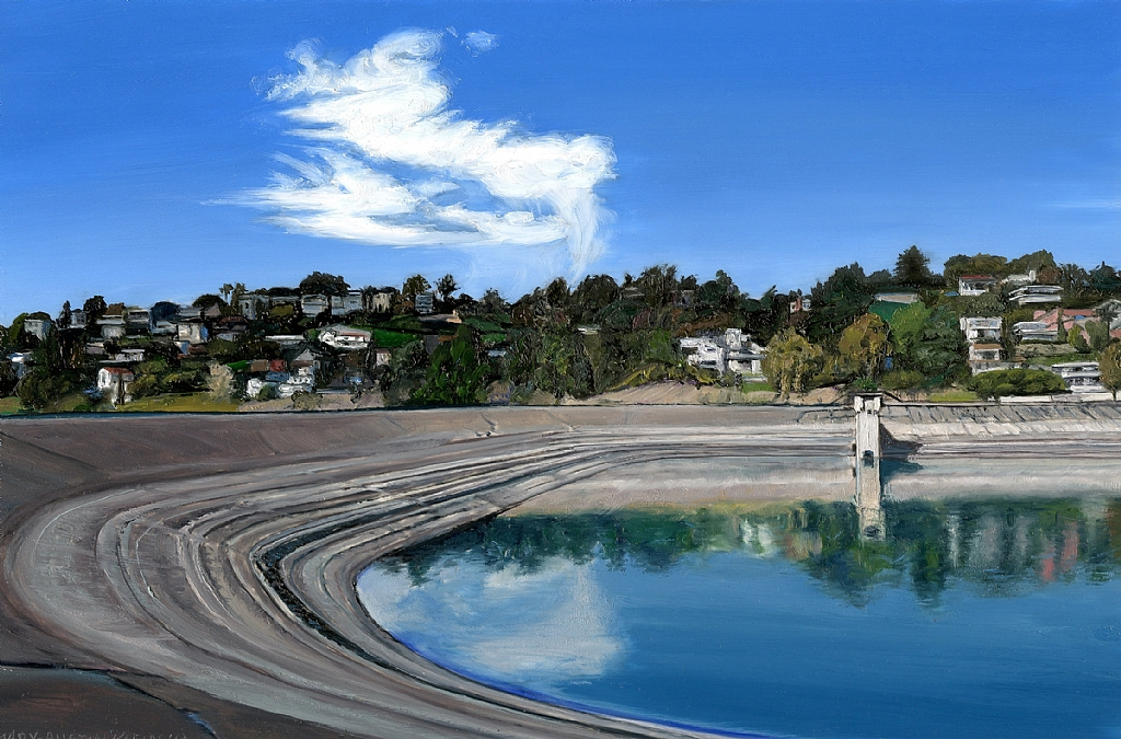 "Silver Lake Reservoir by Mary-Austin Klein Oil ~ 4"" x 6"""