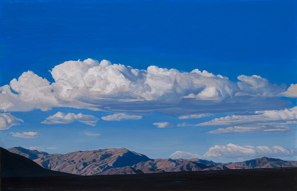 "Last Chance Mts, Death Valley by Mary-Austin Klein Oil ~ 11"" x 17"""