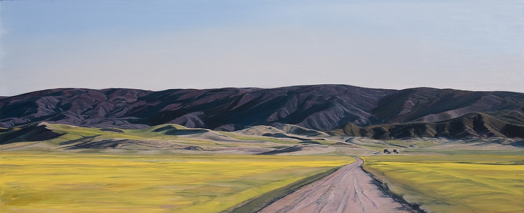 Selby Tanks Carrizo Plain by Mary-Austin Klein  ~ 10.5 x 25.5