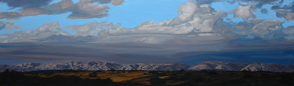 "Temblor Range, Carrizo Plain by Mary-Austin Klein Oil ~ 6.5"" x 21.5"""