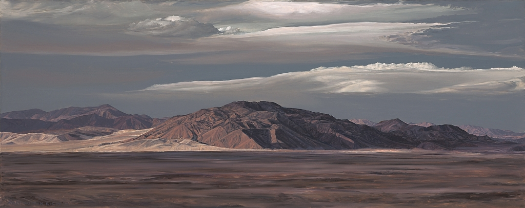 "Soda Mountains, East Mojave by Mary-Austin Klein Oil ~ 8.5"" x 21"""