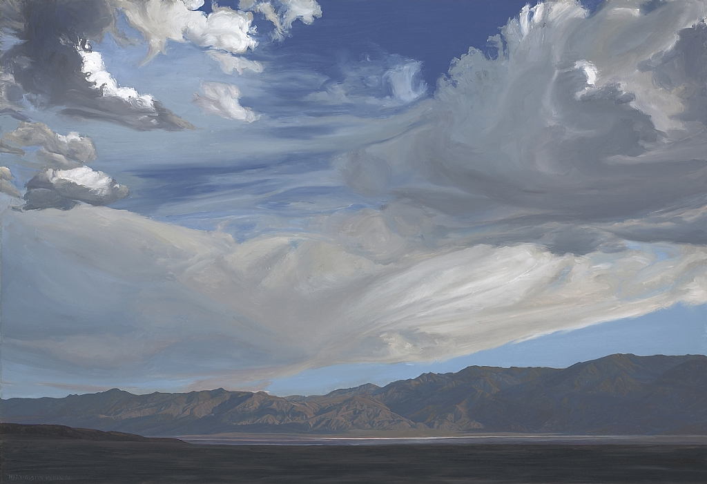 "Storm over the Inyos, Saline Valley by Mary-Austin Klein Oil ~ 15"" x 22"""