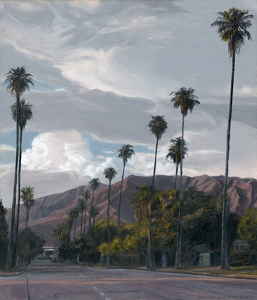 "Palm Boulevard, Pasadena by Mary-Austin Klein Oil ~ 6"" x 5"""