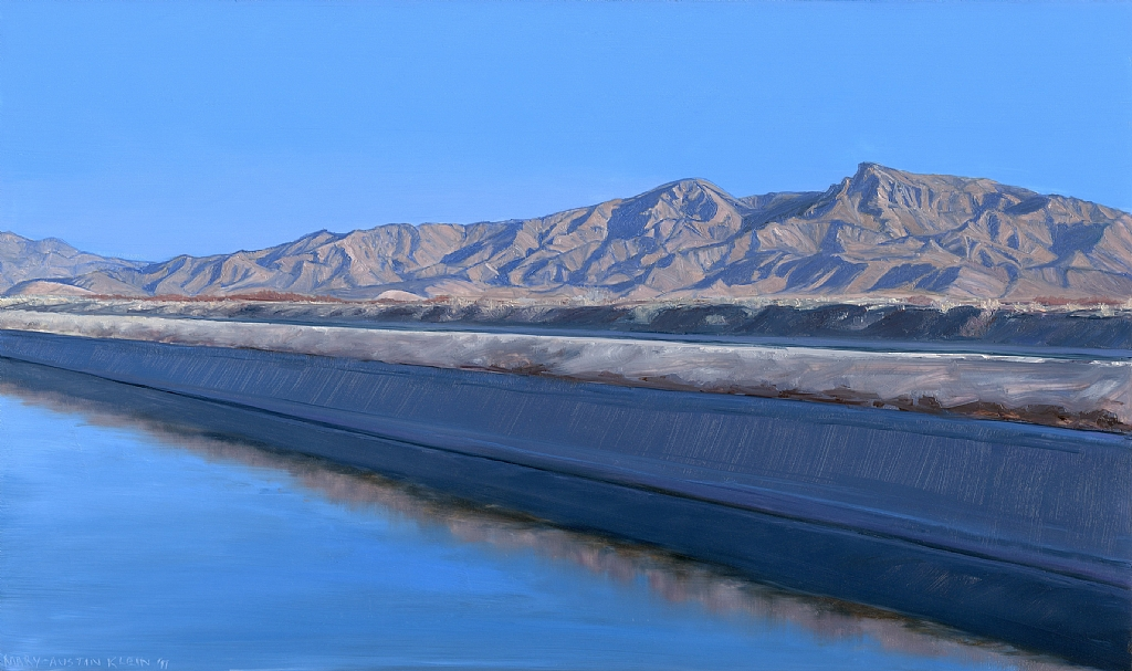 "California Aqueduct, Rt. 62 by Mary-Austin Klein Oil ~ 5.5"" x 9"""