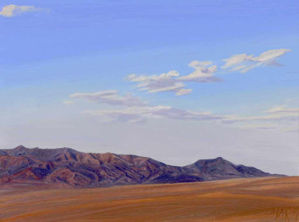 "Santa Rosa Mts. Anza Borrego by Mary-Austin Klein Oil ~ 5"" x 6.5"""
