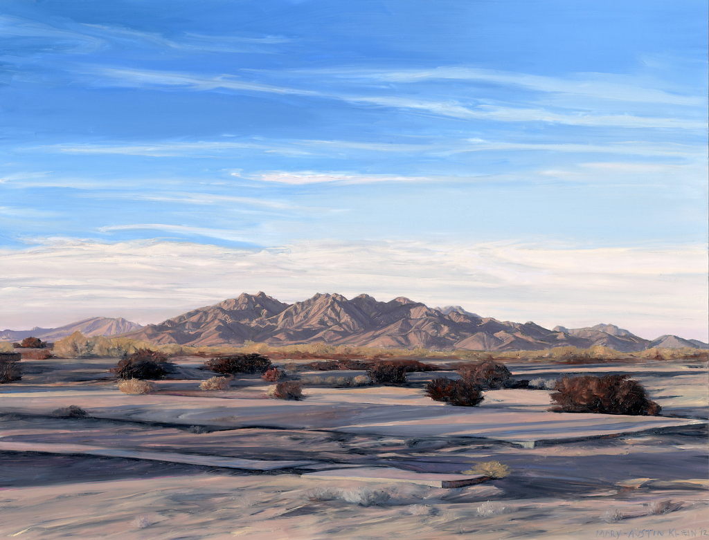 "Woolsey Peak, Gila Bend, AZ by Mary-Austin Klein Oil ~ 8.5"" x 11"""