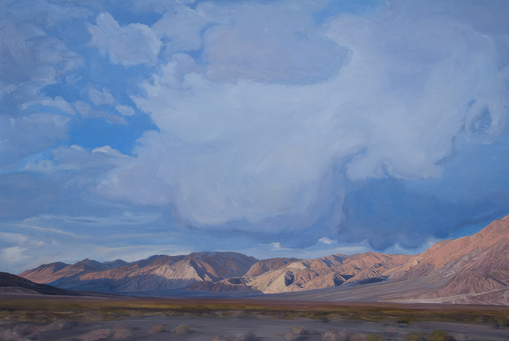 "Last Chance Mts. at Dusk, Saline Valley by Mary-Austin Klein Oil ~ 15"" x 22"""