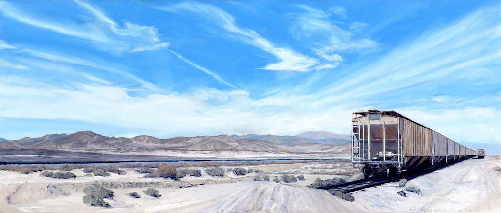 Trona Train by Mary-Austin Klein  ~ 5.25 x -