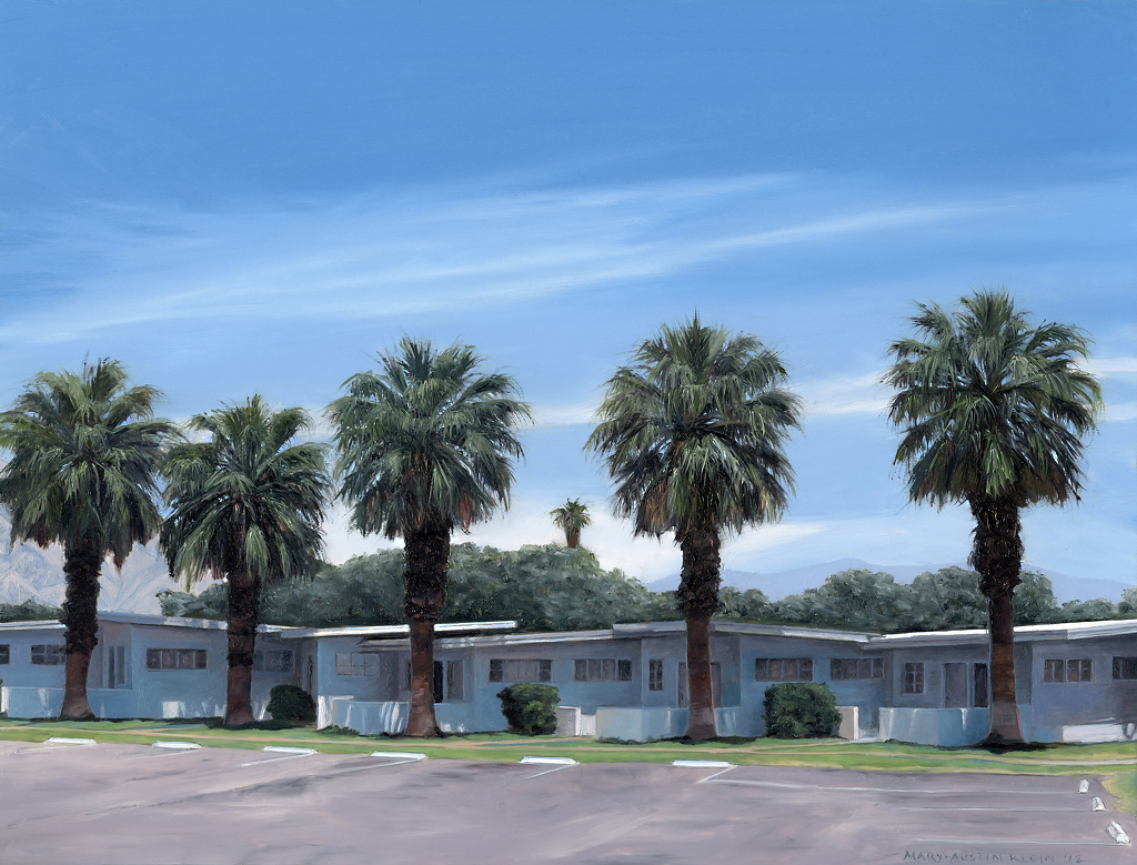 "Stanlunds Resort, Borrego Springs by Mary-Austin Klein Oil ~ 7"" x 9.25"""