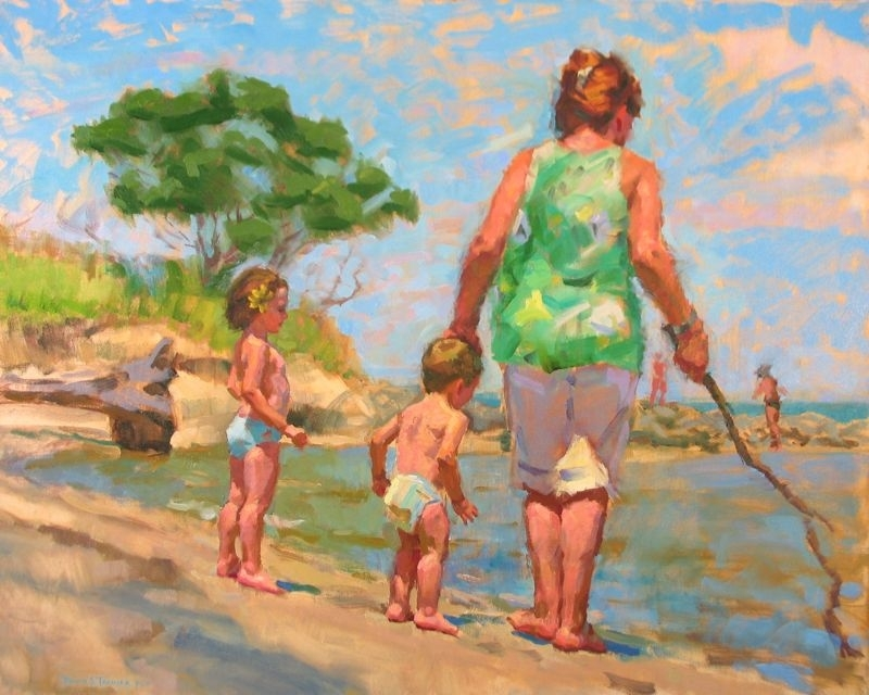 "The Beachcombers by David Tanner Oil ~ 24"" x 30"""