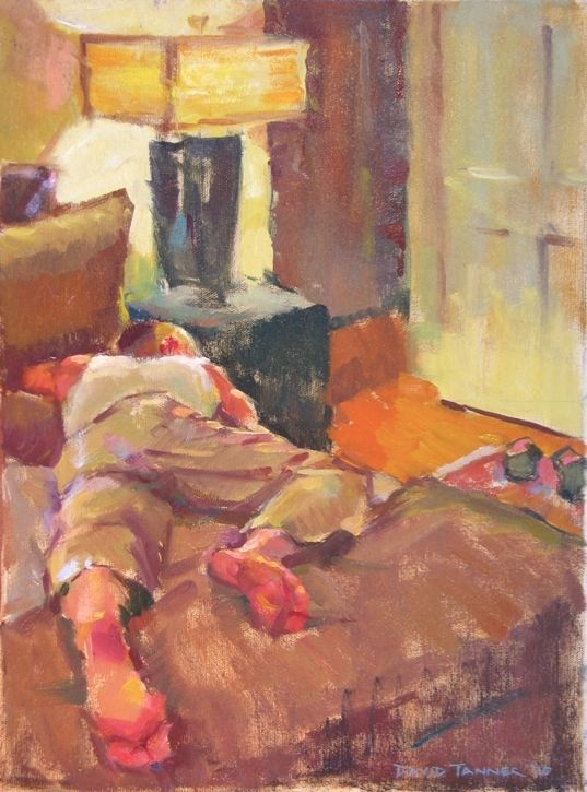 "The Nap: Bedroom by David Tanner Oil ~ 20"" x 16"""