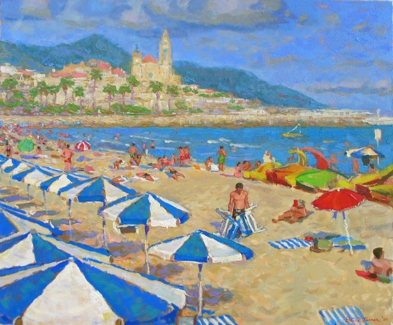 "A Beach in Spain by David Tanner Oil ~ 20"" x 24"""