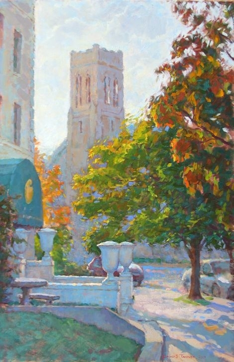 "Autumn Morning on Monument by David Tanner Oil ~ 30"" x 20"""