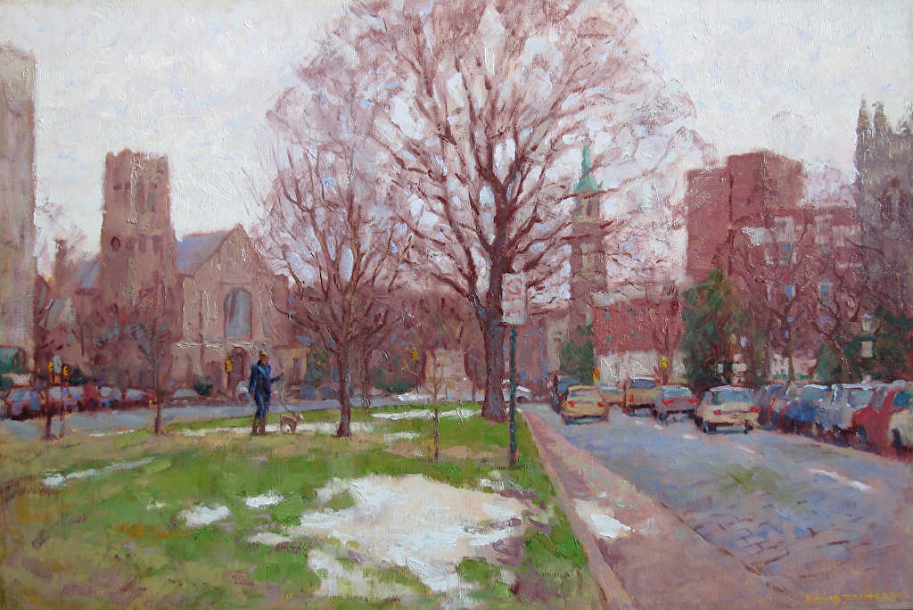 "Winter Morning on Monument by David Tanner Oil ~ 20"" x 30"""