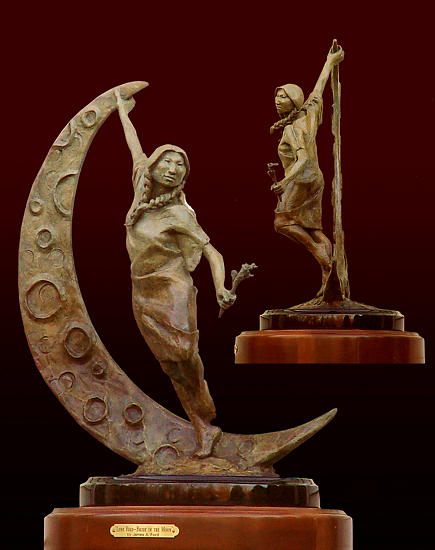 "Lone Bird - Bride of the Moon by James Ford Bronze-Limited Edition of 30 ~ 15"" x 20"""