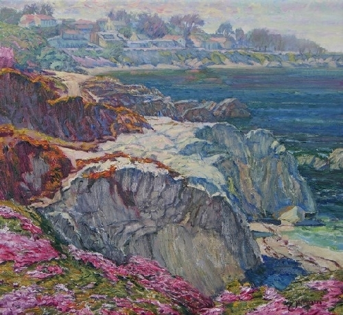 Pacific Grove Spring 1 by Ron and Lois Grauer Oil ~ 22 x 24