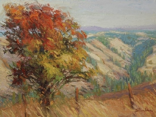 Autumn Glory on Robinette Mountain by Steve Henderson Oil ~ 12&quot; x 16&quot;