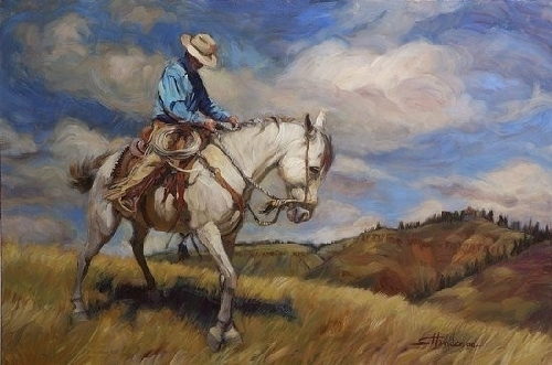 Working Trigger by Steve Henderson Oil ~ 24&quot; x 36&quot;