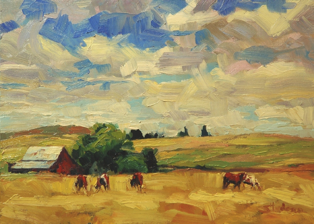 Palouse Farm by Steve Henderson Oil ~ 12 x 16.5