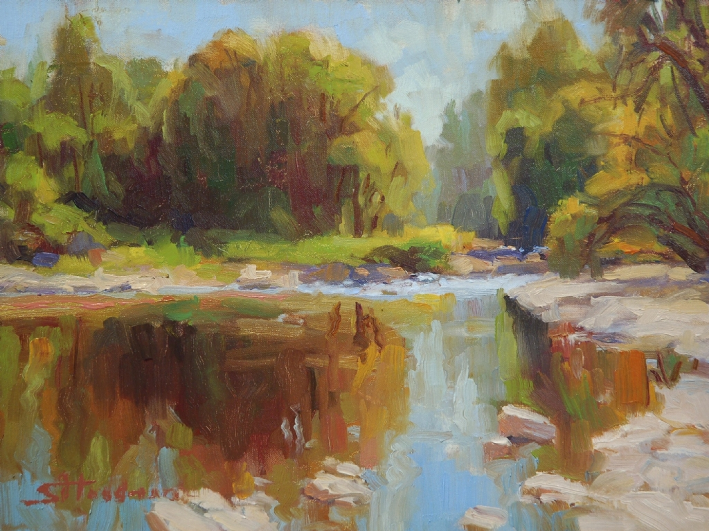 September -- 2011 Western Art Association Auction Entry by Steve Henderson Oil ~ 9 x 12