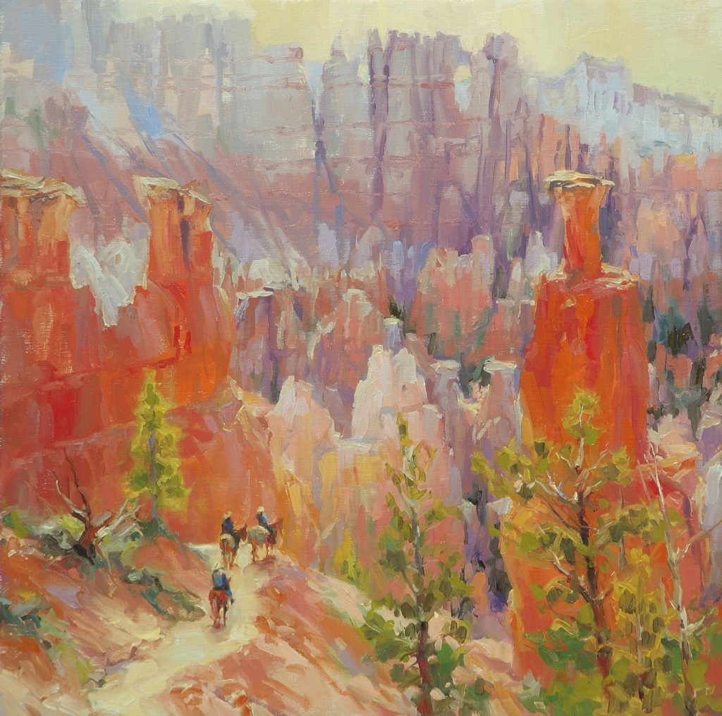 Descent Into Bryce -- Accepted into the 6th Annual Paint the Parks Competition by Steve Henderson Oil ~ 18 x 18