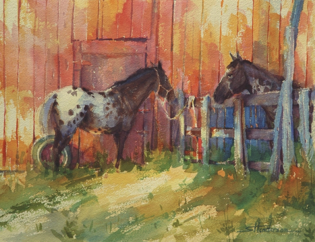 Waiting by Steve Henderson Watercolor ~ 10.5 x 13.5