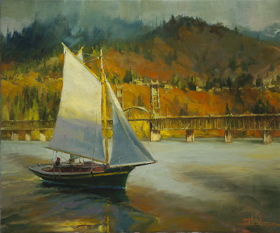 Autumn Sail -- Signed, Limited Edition Print by Steve Henderson  ~  x