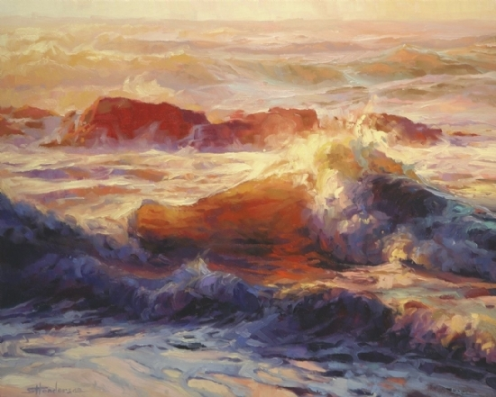 Opalescent Sea -- Signed, Limited Edition Print by Steve Henderson  ~  x 