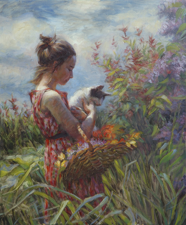 Garden Gatherings -- Signed, Limited Edition Print by Steve Henderson  ~  x 