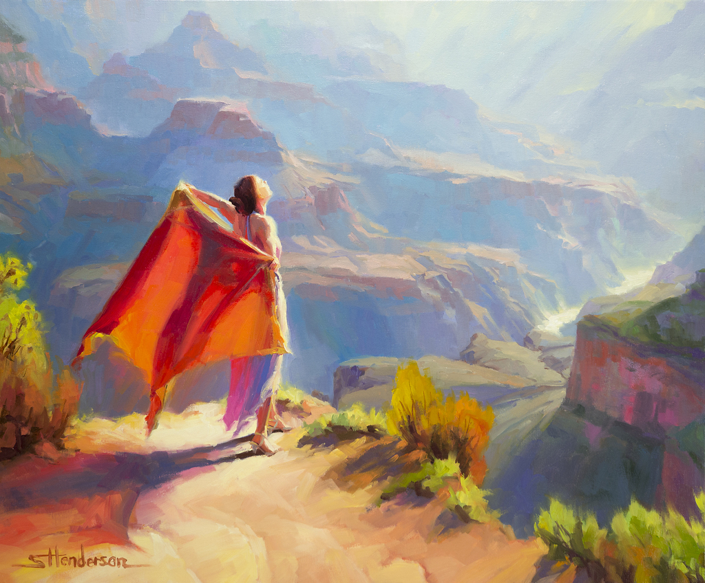 Eyrie -- Wins Juror's Award at the 6th Annual Paint the Parks National Exhibition by Steve Henderson Oil ~ 30 x 36