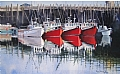 Red Boats Visiting Digby by Poppy Balser