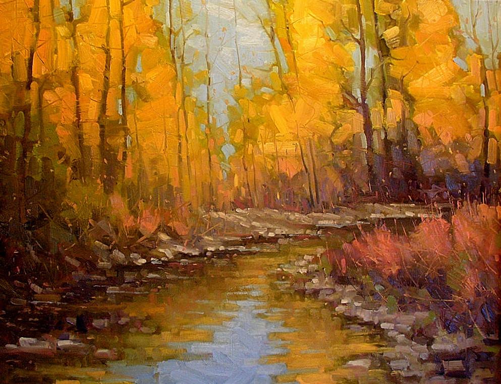 Artist Gene Oil Painting