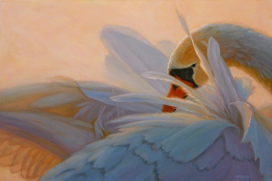 Feather Light II by Sonia Kane was awarded 3rd Place in the January 2015 BoldBrush Painting Competition.