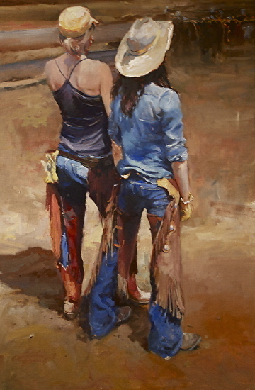 Locals by Tammy Callens was selected as a Finalist in the March 2015 BoldBrush Painting Competition.