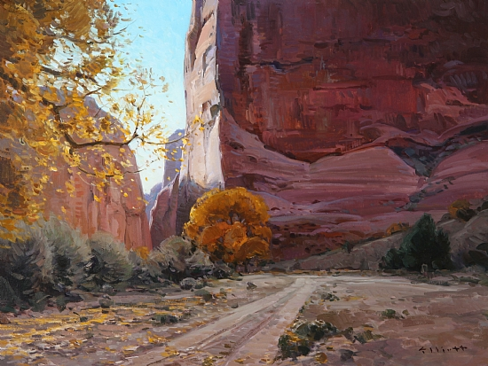 Canyon de Chelly Autumn  -  Josh Elliott Oil 24 x 18 - Entered On 12-26-2009