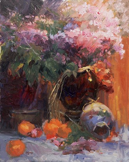 Tangerines  -  Janine Salzman Oil 20 x 16 - Entered On 12-31-2009