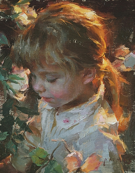 Three Years Old  -  Robert Coombs Oil 8 x 10 - Entered On 03-31-2010