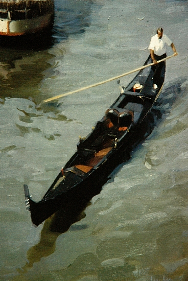 gondolier  -  Robert Lemler Oil 18&quot; x 24&quot;  - Entered On 04-28-2011